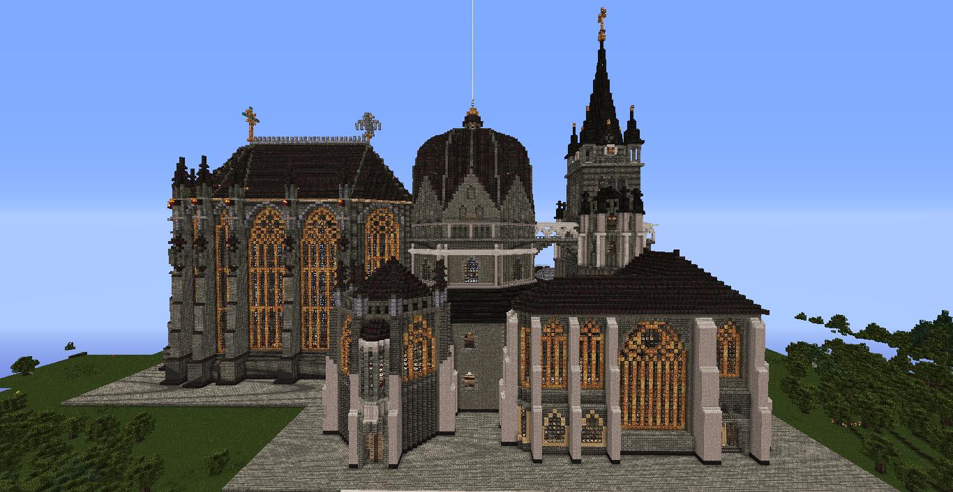 minecraft小型欧式尖顶教堂