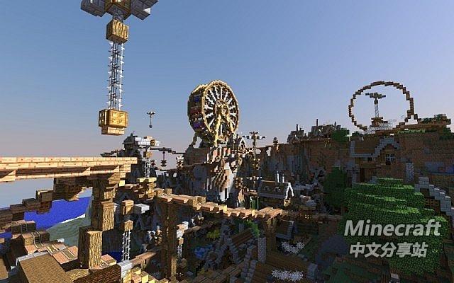 minecraft我的世界-蒸汽朋克过山车乐园 - minecraft