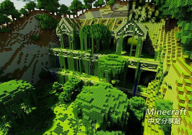 minecraft我的世界 林中遗址小屋 - minecraft中文