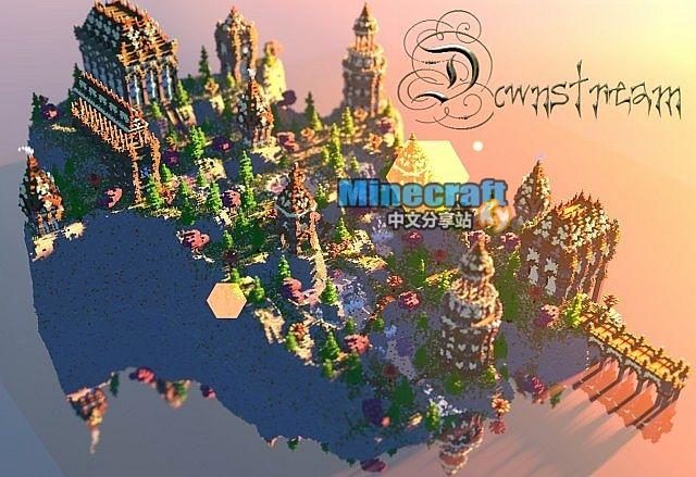 minecraft我的世界地图 downstream下游之村下载