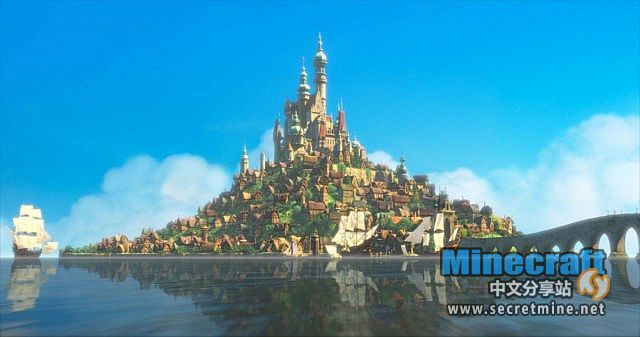我的世界魔幻迪士尼魔法奇缘小岛存档 - minecraft