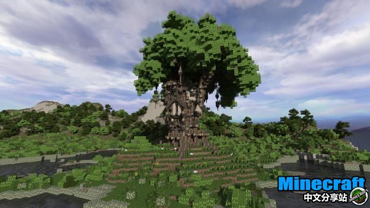 我的世界the old oak老橡树生存小屋作品是一个巨大的树屋,同时这